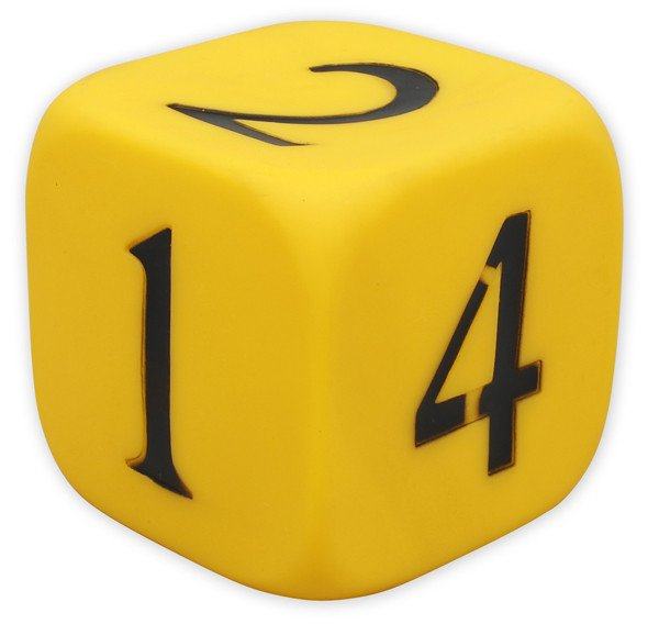 Jumbo PVC Dice - 6 Sided Number