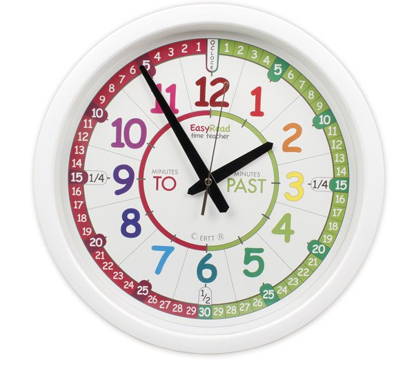 EasyRead Rainbow Clock