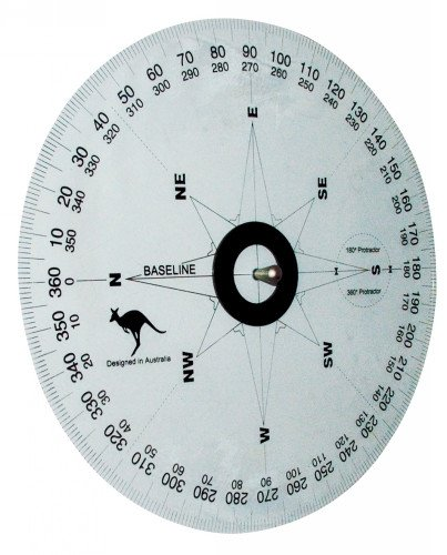 Magnetic Whiteboard Protractor