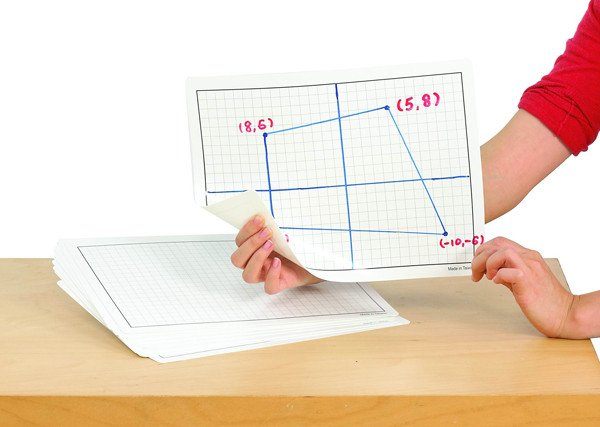 1cm Grid Whiteboard - Pack of 30