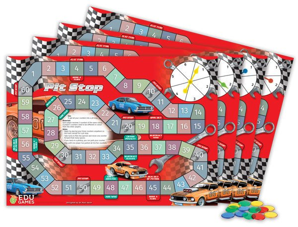 Pitstop Maths Game (Set of 4) - Dr Paul Swan