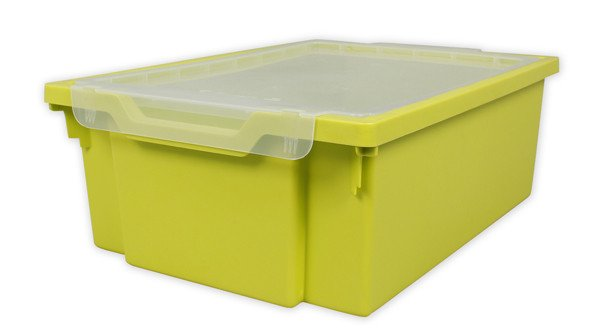 Gratnells Tray + Lid - Deep - LIME GREEN