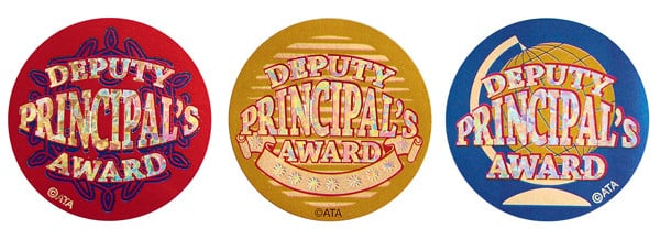 Deputy Principal's Award Stickers