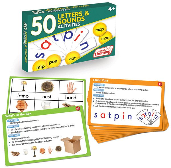 50 Letters & Sounds Activity Cards