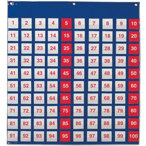 Hundred Pocket Chart 65cm x 69cm