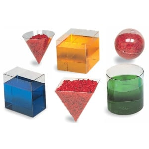 Clear Plastic Geometric Volume (Set of 6)