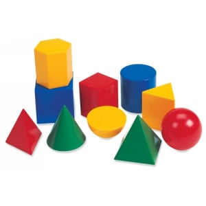 Geometric Solids - Large Plastic (Set of 10)