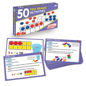 50 Ten Frame Activity Cards